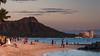 Diamond Head (and wedding) at sunset (bfluegie) Tags: diamondhead hawaii oahu waikiki beach sunset nikond90 d90