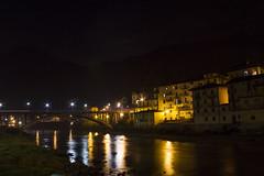 Notturno I (Milena Galizzi) Tags: san giovanni bianco italy urban night lights river mountain val brembana landscape