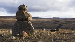 an autumnal placeholder for a snowman (lunaryuna) Tags: iceland wilderness landscape openland rocks rocksculpture soliitude autumn fall lunaryuna