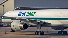 Blue Dart Boeing B757-200(PCF) VT-BDQ Vision XI Bangalore (BLR/VOBL) (Aiel) Tags: bluedart boeing b757 b757200 b757f b757200f b757200pcf vtbdq visionxi bangalore bengaluru canon60d canon24105f4lis