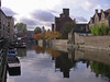 Punts At Shoreline on the River Cam (trijetproductions) Tags: magdalene college cambridge punt cam scudamore