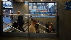 Man In A Hat! (Mike Cook 67) Tags: elements maninahat kingsgross uderground tube london hat streetphotography nikoncoolpixa stairs steps eustonroad stpancras