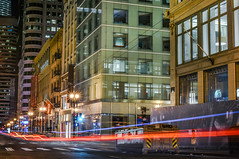 new cartier store opening spring 2018 (pbo31) Tags: sanfrancisco california nikon d810 color november 2017 fall boury pbo31 night dark motion movement lightstream traffic roadway motionblur city urban infinity cartier construction dumpster poststreet unionsquare dior