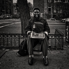 """Collins, Street Sense Media, """"Real Stories, Real People, Real Change"""", Washington, DC (Gerald L. Campbell) Tags: red streetphotography street squareformat spirituality spiritualindifference alienation aloneness bw blackwhite blackmale citylife dc digital freedom homelessness homeless indifference injustice inequality male portraitphotography portrait urbanphotography urban washingtondc yearning yeswecan iphonex"""