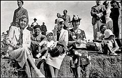 Vintage B&W. July 1939. Perros-Guirrec (France). Sur le mur de pierre. (Margnac) Tags: margnac jeanpaul souvenir famille perrosguirrec france noretblanc bw 1939