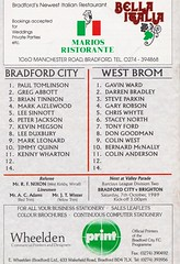 Bradford City vs West Bromwich Albion - 1989 - Back Cover Page (The Sky Strikers) Tags: bradford city wba west bromwich albion brom the valley parade littlewoods cup road to wembley official programme 80p