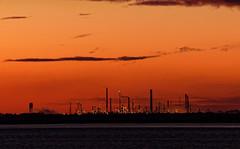 LOR. (alan.irons) Tags: lor lindseyoilrefinery stallingborough oil industry energy humberestuary humberside northlincolnshire kingstonuponhull northbank southbank dawn orangeskies shoreline production eos1dxmk2 ef100400 canon