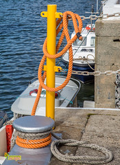 Port St Mary, Isle of Man. (2.2 mil views - Thank you all.) Tags: isleofman im staneastwood stanleyeastwood portstmary port water sea ocean building architecture boat rope pole pipe jetty knot