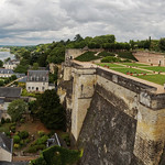 Panorama Rooftop View of the Gardens and the Loire River thumbnail