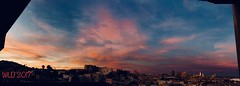Sunset Over San Francisco (Walker Dukes) Tags: panorama urban skyline vista view orange clouds blue sky california