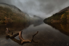 Misty Morning... (fearghal breathnach) Tags: glendalough lake reflections wicklow fog mist