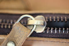 Zipper (Emma Dorber) Tags: 52project2017 lightbox zippers canoneos80d macro handbag leather zip brown