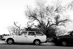 Form follows function (roomman) Tags: 2017 greece peloponnes south peninsula landscape nature remote island far away trip journey car auto transport transportation automobile toyota 1980 1980s corolla classic oltimer oldtimer old white colour form follows function japan japanese collection bw black monochrome contrast grey greyscale aeropoli