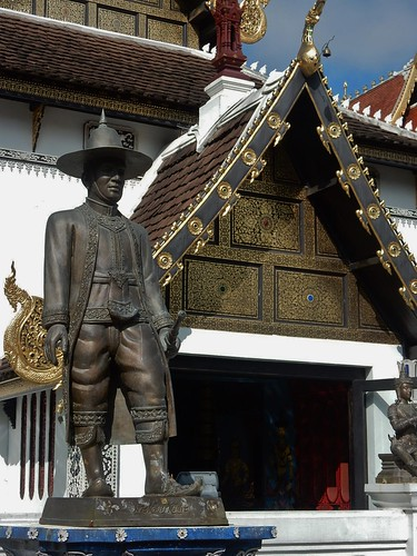 Bronze Man and Golden Gable