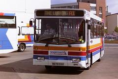 STAGECOACH WESTERN SCOTTISH 355 M678SSX (bobbyblack51) Tags: stagecoach western scottish 355 m678ssx volvo b650 alexander dash ayr bus station 1995