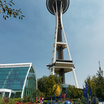 Garden and Space Needle (3-image stitch) thumbnail