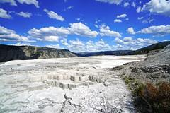 Amazing sky over Mammoth Hot Springs, Yellowstone NP, USA (Andrey Sulitskiy) Tags: usa yellowstone wyoming