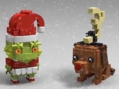 Grinch & Max Brickheadz (monkey5321) Tags: lego brickheadz grinch max doctor dr seuss christmas holidays