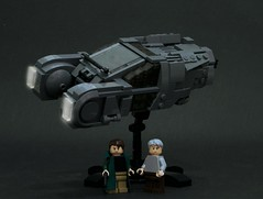 Officer K & Rick Deckard with Officer K's Police Spinner (Blade Runner 2049) (iamJerryPerry) Tags: lego bladerunner2049 bladerunner k rick deckard philipkdick scifi raplicant spinner