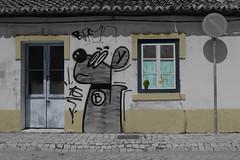 Sines (hans pohl) Tags: portugal alentejo sines architecture portes doors fenêtres windows graphities façades noiretblanccoloré blackandwhite recolored