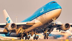 KLM Asia Boeing 747-400 PH-BFC (Ewout Pahud de Mortanges) Tags: klm boeing 747400 schiphol sunset aviation jet jetliner plane planes sun outdoor runway aircraft airliner airliners holland lucht netherlands air airplane cockpit cockpitlife people window