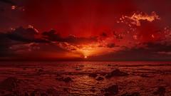 Luminous Seascape (Jörg Bergmann) Tags: puestadesol atardecer clouds gm1 luminous lumix m43 mft ocean panasonic red sea seascape sky sun sunset vacation travel landscape sunrays sunbeam coast monochrome horizon sunbeams sunlight light sliderssunday hss microfourthirds micro43 skyscape panasonic1232mmf3556 wallpaper μ43 lumixgvario1232f3556 dmcgm1 panasonicdmcgm1 crepúsculo sonnenuntergang autumn fall 2017 november contraluz backlight otoño herbst water