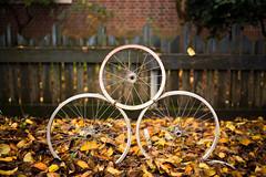 recycled bikes (sebboh) Tags: carlzeisscontaxg45mmf2planar sonya7kolariut zeissrokkorfrankenlens autumn portland oregon pdx bokeh