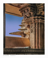 Temple window with brush, Kajurahoh, India (Richard Murrin Art) Tags: templewindowwithbrush kajurahoh india richard murrin art photography canon 5d landscape travel images building cool