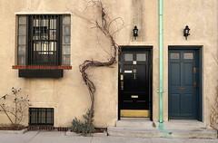 Washington Mews, Greenwich Village, New York (Spencer Means) Tags: dwwg house door doorway facade façade window iron guard bar vine mews washington greenwichvillage manhattan newyork nyc city ny urban neighborhood