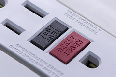 Test monthly -[ HMM ]- (Carbon Arc) Tags: macromondays buttonsandbows button test reset outlet socket receptacle electric power ground fault circuit interruptor gfci gfi residual current device rcd