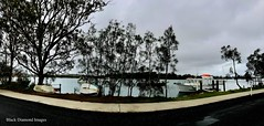 Boats and Camden Haven River at Dunbogan, Mid North Coast, NSW (Black Diamond Images) Tags: boats camdenhavenriver dunbogan midnorthcoast nsw appleiphone7plus iphone7plus panorama appleiphone7pluspanorama iphone7pluspanorama iphonepanorama