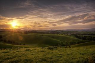 Warm Canterbury Sunset