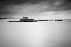'Isolated'. (Explored 10/11/17) (Meurig2011) Tags: stcwyfanchurchinthesea cribinau llangwyfan aberffraw anglesey church sea mountains mono longexposure northwales