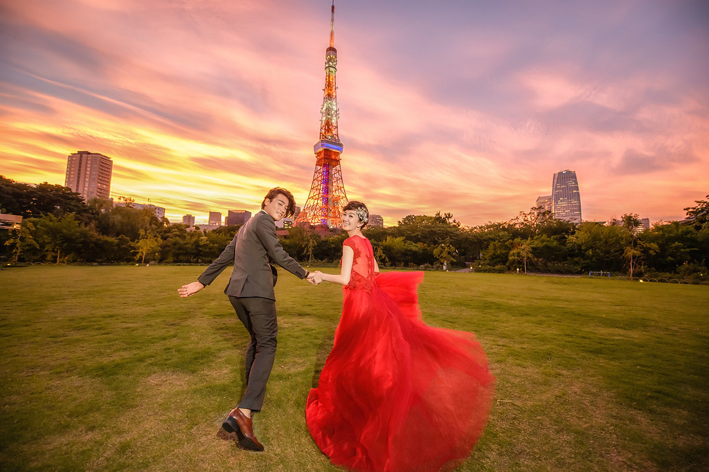 東京婚紗 東京鐵塔婚紗拍攝