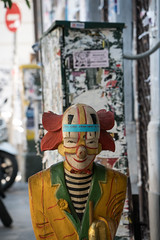 Disturbing Clown Statue - Athens, Greece (ChrisGoldNY) Tags: friendlychallenges challengewinners chrisgoldphoto chrisgoldny chrisgoldberg forsale licensing bookcovers bookcover albumcover albumcovers sonyalpha sonya7rii sonyimages sony greece greek grecia athens clown scary disturbing statue graffiti art streetart urban city sweep unanimous red rouge athena
