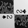 Monotone Macro (andycurrey2) Tags: macromondays stonerhymingzone monarchplayingcards bnw mono square clubs hearts white black game canon digital blackandwhite pattern