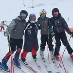 U16's from Red Mountain and Black Dogs Ski Club training in Tignes, France - They met and chatted with Tessa Worley of the French National Team, she holds the Crystal Globe in GS from last year's World Cup