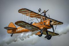 130825_Dunsfold_0217 (dandridgebrian) Tags: airshow dunsfold wingswheels airdisplay breitlingwingwalkers biplanes breitlingwingwalker boeingstearman