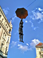 Falling from the Sky 2 (Simona Simonkey) Tags: czech bohemia sculpture praha prag prague