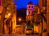 """Glitzy Eventide"" - Old Town Plovdiv, Bulgaria. (Khalid H Abbasi) Tags: oldtownplovdiv plovdiv bulgaria travel night travelphotography nightphotography nikon nikond5500 tamron tamronaf18270mmf3563diiivcpzdb008n sky cobblestonestreet streetlight churchtower warmlight longexposure doctorstoyanchomakovstreet"