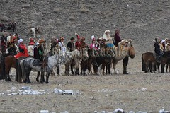 30101740 (wolfgangkaehler) Tags: 2017 asia asian centralasia mongolia mongolian westernmongolia ulgii ölgii bayanulgiiprovince altaimountains altaymountains altaymts goldeneaglefestival people person kazakh competing competition competitor kyzkhuar game games youth boys girls whipped horse horseriding horserace horseback horsebackriding horsebackrider fun funny traditionalgame