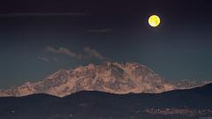Sunrise and Moonset (andreasbrink) Tags: italy monterosa mountains taino moon sunrise