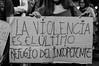 """""""LA VIOLENCIA ES EL ÚLTIMO REFUGIO DEL INCO(M)PETENTE"""" (efdiversas) Tags: alerta feminista pancarta"""
