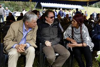 Inauguración del tranque número 100 en la Región de La Araucanía