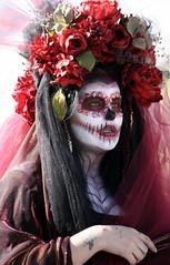 2017 Dia De Los Muertos Parade (JoelDeluxe) Tags: diadelosmuertosmarigoldparadeabqsouthvalleydayofthedeadnovember5 2017albuquerquenewmexiconmportraitspeoplepaintedfacescalaverasjoeldeluxe muertosymarigolds dayofthedead diadelosmuertos marigoldparade autumn memoriasofrendas skeletons skulls