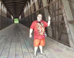 8/20/17 - Williams Covered Bridge (CubMelodic23) Tags: august 2017 indiana williamsin lawrencecounty williamscoveredbridge bridge historic landmark me dave selfportrait