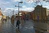 Fareham Shopping Centre (Jainbow) Tags: fareham weststreet shops shopping shoppers people precinct road street church lamppost sculpture reflections jainbow