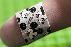 """I am stuck on Band-Aid, 'cause a Band-Aid's stuck on me!"" (WilliamND4) Tags: bandaid bandage finger macromondays fingertips macro tokina100mmf28atxprod nikond810"