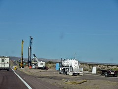 Road work  11/14/2017  (  1 ) (THE RANGE PRODUCTIONS) Tags: construction interstate 25 freeway i25 newmexico southwestus equipment road f 18wheeler semi tanker bigrig