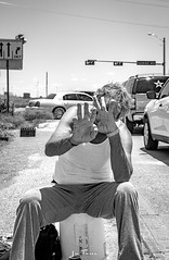 Hoyt-8980 (~La Force~) Tags: d7100 nikon street begging panhandler homeless wifebeater drunk crazy mental hopeless candid dallas dfw frustrated despair laughing smiling